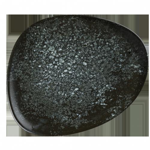 Cosmos Black Gourmet Oval Kayık Tabak 19*11 cm
