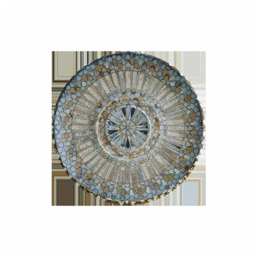 Luca Mozaik 19cm kahve fincan tabağı