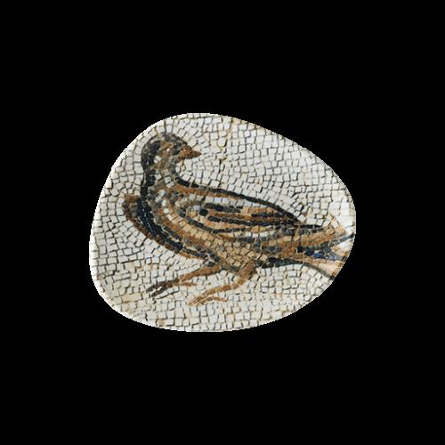 Mezopotamya Kuş Vago Düz Tabak 19 cm
